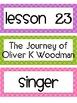 Unit 5:  Houghton Mifflin Journeys Spelling Lessons 21-25 Grade 3
