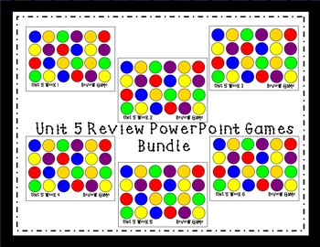 Unit 5 Interactive Review Games for Smart Notebook. Reading Street. First Grade.