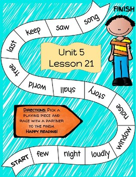 Unit 5 Journeys Fry Word Game