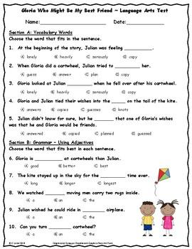 Unit 5 Language Arts Tests Bundle ~ 2nd Grade ~ Journeys ~ Penguin Chick, etc.