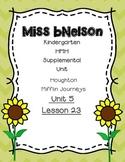 Unit 5 Lesson 23 Kindergarten Journeys HMH Supplemental Unit