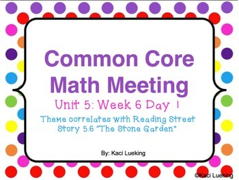 Common Core Math Meetings Unit 5