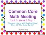 Common Core Math Meetings Unit 5
