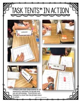 Task Tents™ - Math Edition {5th Grade Unit 7}