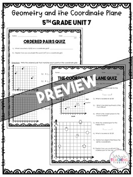 Geometry and the Coordinate Plane Math Resources *5th Grade* {Unit 7}
