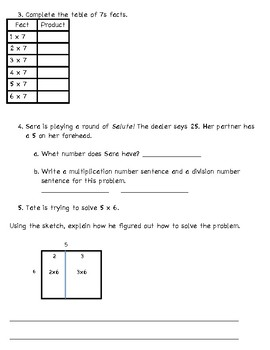 Unit 5 Math Review for Everyday Math 3rd grade (2015 edition)
