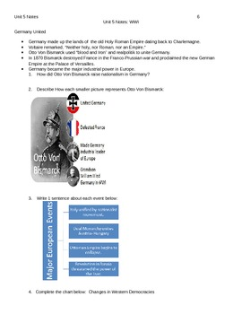 Unit 5 Packet-  Imperialism and World War I