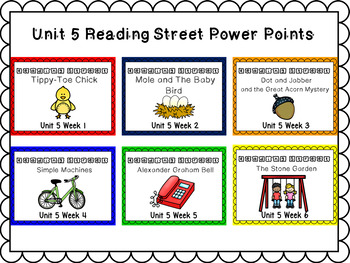 Unit 5 PowerPoint Bundle Weeks 1-6 for Reading Street First Grade