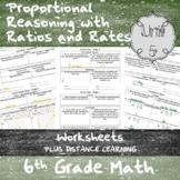 Unit 5-Proportional Reasoning w/ Ratios and Rates-Worksheets-6th Grade Math TEKS