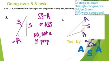 "Unit 5- Proving Triangle Congruence by ""Hypotenuse-Leg"" (HL)"