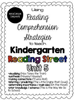 Unit 5 Reading Comprehension Strategies to Teach Kindergarten Reading Street