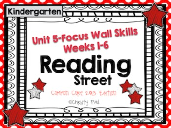 Unit 5 Reading Street Kindergarten Focus Wall