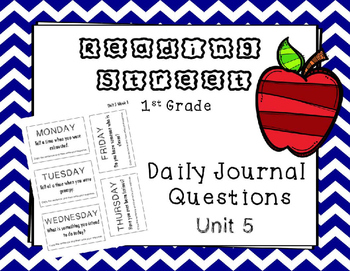 Unit 5 Reading Street Weekly Journal Ideas. First Grade