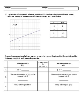 Unit 5 Review #3 - Arithmetic, Geometric Sequences, Linear vs Exponential