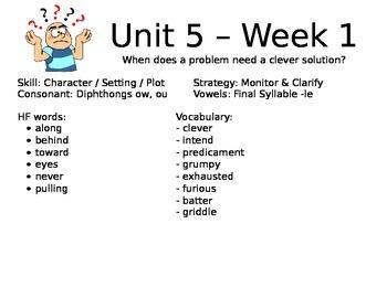 Unit 5 Scott Foresman Reading Street Focus Wall - 1st / First Grade