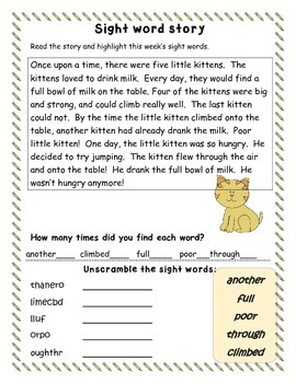 First Grade-Units 5 and 6 Sight Word Study Packets/McGraw-Hill Treasures