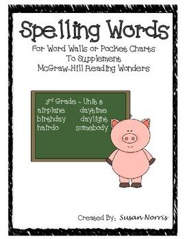 Unit 5 Spelling Words ~ McGraw-Hill Reading Wonders