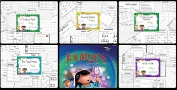 Unit 5 Stories 21-25 Journeys {spelling, grammar, and phonics practice} Bundle
