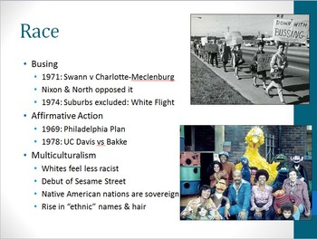 Unit 5: The 1960s to the 1980s