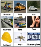 Pre K Unit 5 Transportation vocabulary Cards Chinese/ English