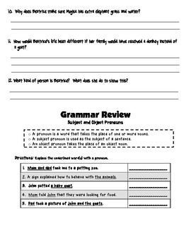 Unit 5 Treasures Story, Vocab, and Grammar Reviews
