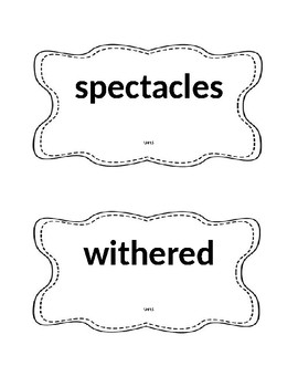 Unit 5 Vocabulary Reading Street