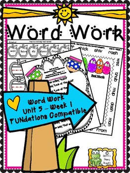 Word Work - Unit 5 - Week 1