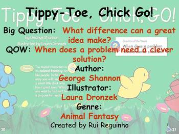 Unit 5 Week 1 - Lesson - Tippy-Toe Chick, Go! - Lesson Bun