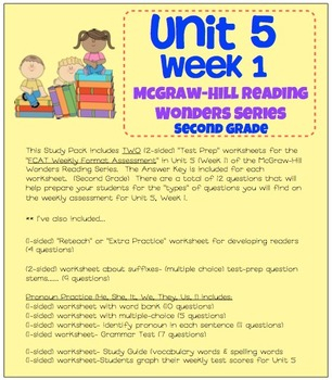 Unit 5, Week 1 Study Guide for Wonders Second Grade