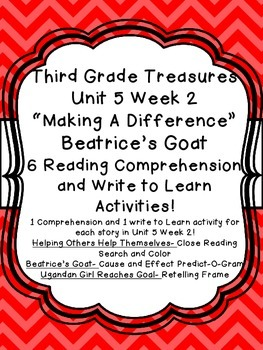 Unit 5 Week 2 3rd Grade Treasures 6 Comprehension & Writing Beatrice's Goat