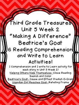 Unit 5 Week 2 3rd Grade Treasures 6 Comprehension & Writin