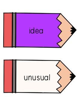 Reading Wonders Unit 5 Week 3 Pencil Pairs **with 72 BONUS PAGES!***