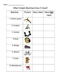 Unit 5 Week 4 Reading Street Simple Machines Pre-reading Checklist