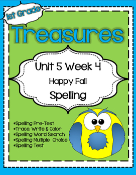 Unit 5 Week 4 Spelling for Treasures Reading Series