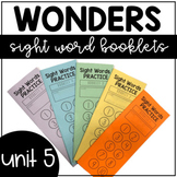 Unit 5 Wonders Sight Words Booklet