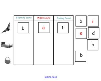 Unit 5 Word Builder on Smartboard