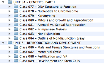 Unit 5a (Genetics, Part I) and Unit 6 (Reproduction and Development)