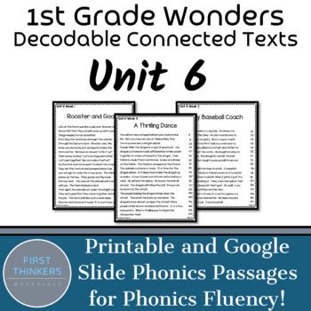 Unit 6 Wonders Phonics Passages