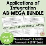 Calculus Applications of Integration MEGA Bundle (Unit 8)