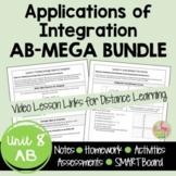 Calculus Applications of Integration MEGA Bundle (AB Version - Unit 8)