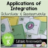 Calculus: Applications of Integration Review & Assessment Bundle