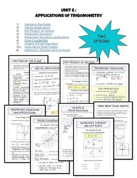 PreCalculus: Applications of Trigonometry FOLDABLES Bundle