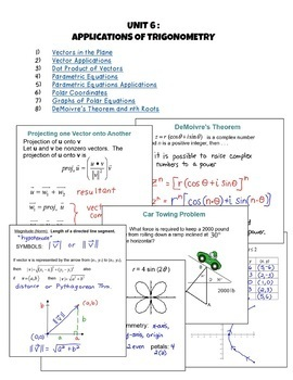 Applications of Trigonometry SMART Board® Lessons (PreCalclus - Unit 6)