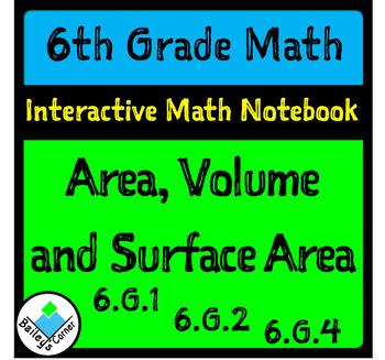 Unit 6: Area, Volume and Surface Area Bundle