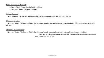 Unit 6 Assessment - Reading Wonders