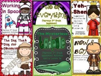 Unit 6 Bundle  Journeys 2nd Grade Supplement Activities