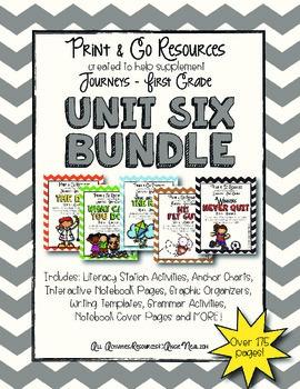Unit 6 Bundle Journeys First Grade Print and Go