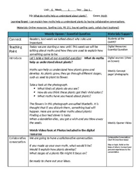 Unit 6 Bundle Lesson Plans- Wonders Reading 2nd Grade Weeks 1-5