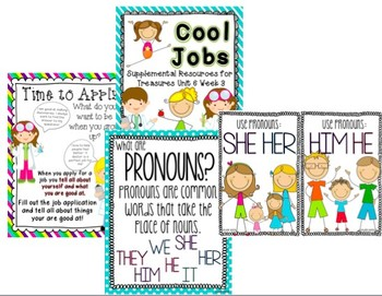 Unit 6 Bundle Pack-Supplemental Resources for Treasures First Grade