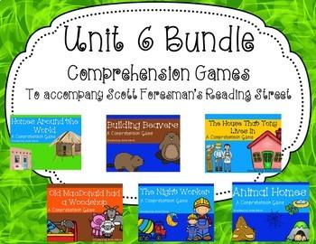 Unit 6 Comprehension Game Bundle
